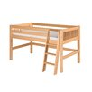 Camaflexi Twin Low Loft Bed with Mission Headboard