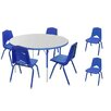 Marco Group Inc. 7 Piece Round Activity Table and Chair Set