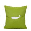 Nantucket Bound Whale Indoor/Outdoor Sunbrella Throw Pillow