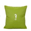 Nantucket Bound Seahorse Indoor/Outdoor Sunbrella Throw Pillow