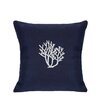 Nantucket Bound Coral Indoor/Outdoor Sunbrella Throw Pillow
