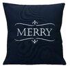 Nantucket Bound Holiday Merry Indoor/Outdoor Sunbrella Throw Pillow