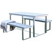 Walker Edison All-Weather Grey Patio Table