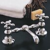 Strom Plumbing by Sign of the Crab Columbia Bathroom Sink Faucet Double Handle with Drain Assembly