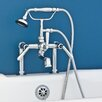 Strom Plumbing by Sign of the Crab Double Handle Deck Mount Faucet Trim with Handheld Shower