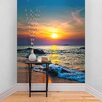 The Binary Box Sunset Over the Sea Self Adhesive Wallpaper