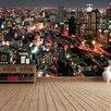 The Binary Box City Scape Light Streaks Self Adhesive Wallpaper