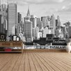 The Binary Box Hudson River New York Self Adhesive Wallpaper