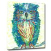 My Island Owl Mounted Giclee by Gerri Hyman Painting Print on Canvas