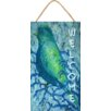 "My Island ""Bluebird Welcome Sign"" by Gerri Hyman Painting Print Plaque"