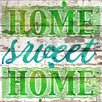 Jen Lee Art Home Sweet Home Barn Siding Textual Art Plaque