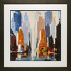 North American Art 'Urbania 2' by Robert Sequin Framed Painting Print