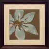 North American Art 'Patchwork Petals II' by June Erica Vess Framed Graphic Art