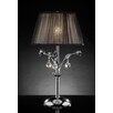 """OK Lighting Crystal Rose 28"""" H Table Lamp with Empire Shade"""