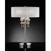 "OK Lighting Moon Jewel 29"" H Table Lamp with Drum Shade"