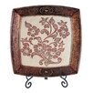OK Lighting Floral Charger with Stand
