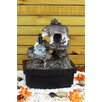 Resin/Fiberglass Wolf Table Fountain with LED Light - OK Lighting Indoor and Outdoor Fountains