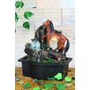 Resin/Fiberglass Horse Table Fountain with LED Light - OK Lighting Indoor and Outdoor Fountains