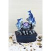 Dolphin Fiberglass Table Fountain with LED Light - OK Lighting Indoor and Outdoor Fountains