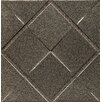 """Bedrosians Ambiance Insert Matrix City 4"""" x 4"""" Resin Tile in Brushed Nickel"""