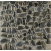 Bedrosians Hemisphere Stone Pebble Tile in Panther Black