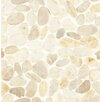Bedrosians Hemisphere Random Sized Stone Pebble Tile in Fatima Cream