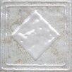"Bedrosians Forge Deco Tozzetto 1.9"" x 1.9"" Porcelain Insert Tile in White"