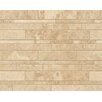 Bedrosians Linear Random Sized Marble Mosaic Tile in Cappuccino