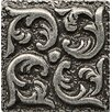 """Bedrosians Ambiance Insert Wave 1"""" x 1"""" Resin Tile in Pewter"""