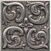 """Bedrosians Ambiance Insert Wave 2"""" x 2"""" Resin Tile in Pewter"""