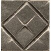"Bedrosians Ambiance Insert Matrix City 1"" x 1"" Resin Tile in Brushed Nickel"