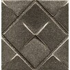 """Bedrosians Ambiance Insert Matrix City 2"""" x 2"""" Resin Tile in Brushed Nickel"""