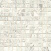 "Bedrosians 1"" x 1"" Marble Mosaic Tile in White Carrara"