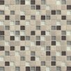 "Bedrosians Interlude 0.75"" x 0.75"" Stone and Glass MosaicTile in Prelude"