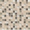 "Bedrosians Interlude 0.75"" x 0.75"" Stone and Glass Mosaic Tile in Stacatto"