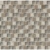 "Bedrosians Tessuto 0.75"" x 1"" Stone and Glass Mosaic Tile in Gray"
