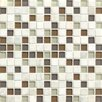 "Bedrosians Interlude 0.75"" x 0.75"" Stone and Glass MosaicTile in Encore"