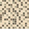 """Bedrosians Interlude  0.75"""" x 0.75"""" Stone and Glass MosaicTile in Falsetto"""