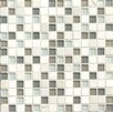 "Bedrosians Interlude 0.75"" x 0.75"" Stone and Glass Mosaic Tile in Harmony"