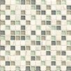 "Bedrosians Interlude 0.75"" x 0.75"" Stone and Glass MosaicTile in Minuet"