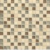 """Bedrosians Interlude 0.75"""" x 0.75"""" Stone and Glass Mosaic Tile in Musette"""