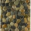 Bedrosians Hemisphere Random Sized Stone Pebble Tile in Riverbed