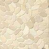 Bedrosians Hemisphere Random Sized Stone Pebble Tile in Bali White