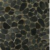 Bedrosians Hemisphere Random Sized Stone Pebble Tile in Ocean Black