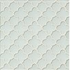 Bedrosians Mallorca Glass Flora Mosaic Tile in White Linen