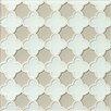 Bedrosians Mallorca Glass Flora Mosaic Tile in White Linen and Mist