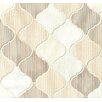"Bedrosians Luxembourg 12"" x 13"" Stone Mosaic Tile in Tuileries"