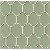 Bedrosians Mallorca Glass Mosaic Tile in Fern