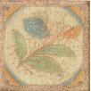 "Bedrosians Cotto Nature 3"" x 3"" Tira Versilia Hand Painted Dot/Corner Tile"