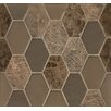 Bedrosians Panache Glass and Stone Mosaic Tile in Leather